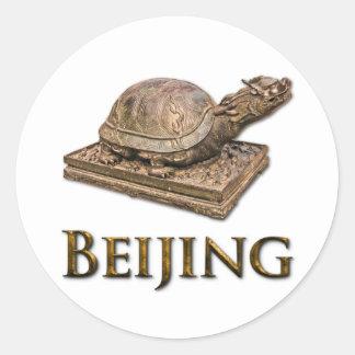 BEIJING Turtle Round Sticker