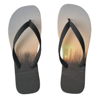 Beijing Winter Sunrise Flip-Flops Flip Flops