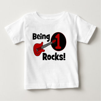 Being 1 Rocks! Personalized Baby's 1st Birthday Shirt