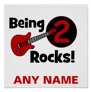 Being 2 Rocks! with Guitar Poster