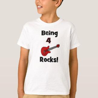Being 4 Rocks! Guitar Design T-Shirt