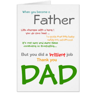Being a DAD- Father's Day Card