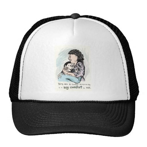 Being able to comfort someone else... mesh hat