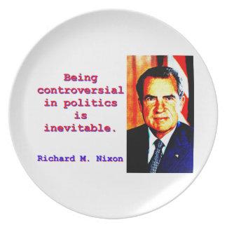 Being Controversial In Politics - Richard Nixon.jp Plate