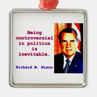 Being Controversial In Politics - Richard Nixon.jp Silver-Colored Square Ornament