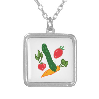 Being fresh, illustration goods FRESH and of the t Silver Plated Necklace