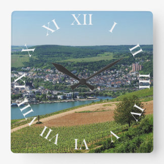Being gene on the Rhine Square Wall Clock