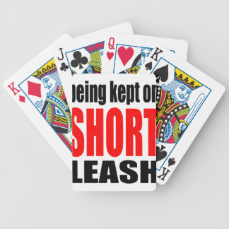 being kept short leash marriage reality expectatio bicycle playing cards