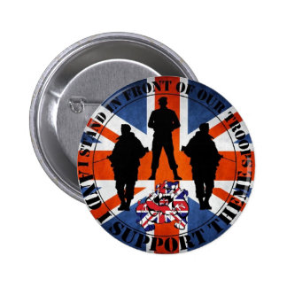 Being located in front OF our Troops 2 Inch Round Button