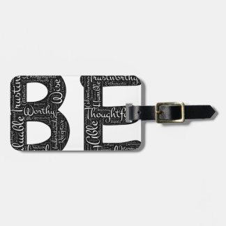 being motivational luggage tag