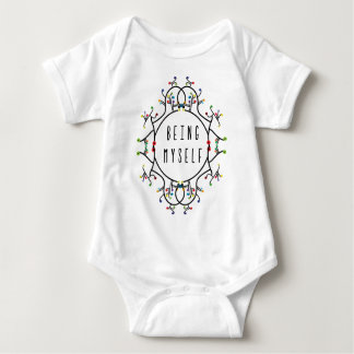 Being myself baby bodysuit