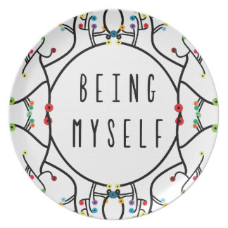 Being myself plate