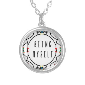 Being myself silver plated necklace