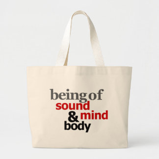 Being Of Sound Mind & Body Jumbo Tote Bag