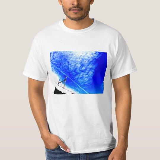 Being refreshing, the bright blue sky which is T-Shirt