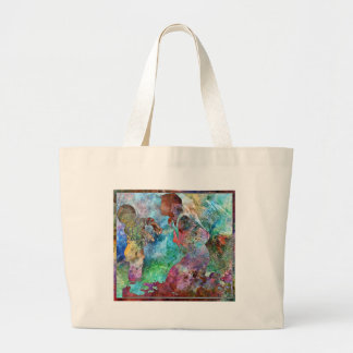 BEING SCOLDED BY MOTHER IS NEVER FUN LARGE TOTE BAG