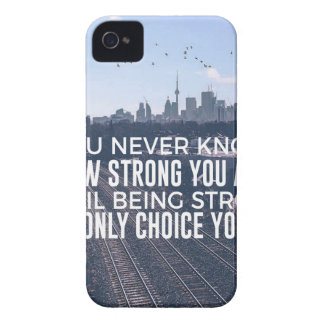 Being Strong Is The Only Choice iPhone 4 Cover
