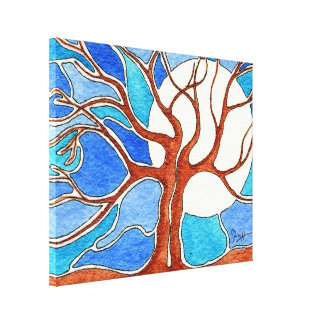 Being Together is Beautiful - Watercolor Trees Canvas Print