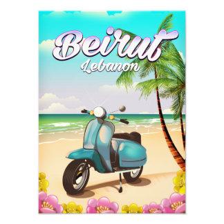 Beirut Lebanon Scooter travel poster