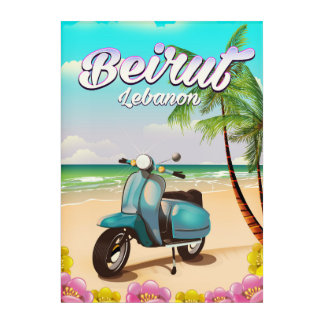 Beirut Lebanon Scooter travel poster Acrylic Wall Art