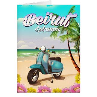 Beirut Lebanon Scooter travel poster Card