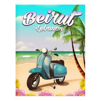 Beirut Lebanon Scooter travel poster Postcard
