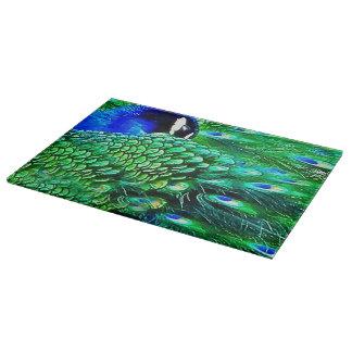 Bejeweled Cutting Board Peacock Wildlife