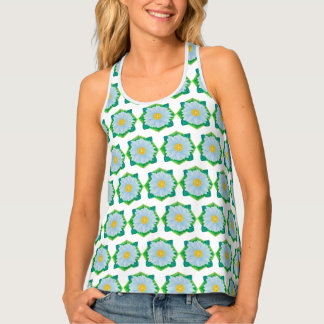 Bejeweled Daisy All-over-Print Tank Top