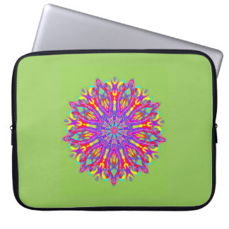 Bejeweled floral medallion laptop sleeve