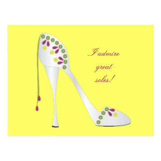 Bejeweled High Heel Postcard