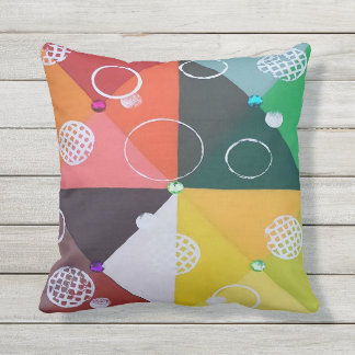Bejeweled Patio Pillow