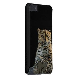 Bel arrière - plan abstrait de noir de tigre coque iPod touch 5G