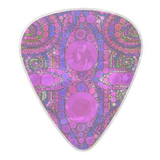 Bel onglet de guitare abstrait fou de celluloïde médiator perle celluloid