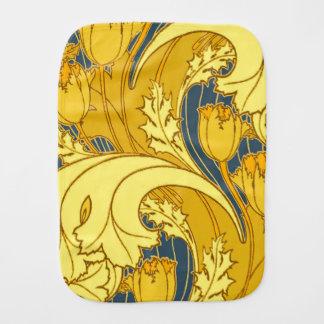 Bel or bleu de tourbillonnement floral linge de bébé