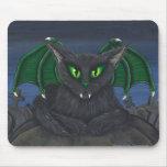 Bela Vampire Cat Gothic Fantasy Art Mousepad