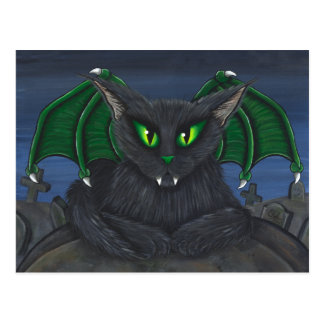 Bela Vampire Cat Gothic Fantasy Art Postcard