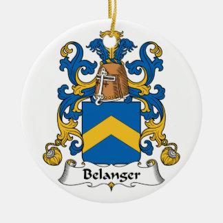 Belanger Family Crest Ceramic Ornament