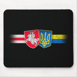 Belarus and Ukraine Brothers Forever Mouse Pad