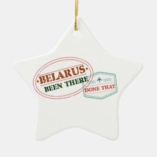 Belarus Been There Done That Ceramic Star Ornament