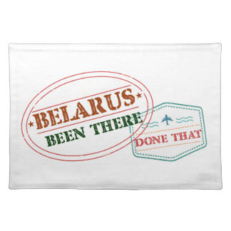 Belarus Been There Done That Placemat