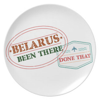 Belarus Been There Done That Plate