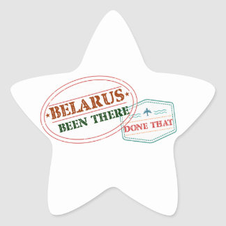 Belarus Been There Done That Star Sticker