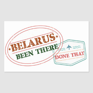 Belarus Been There Done That Sticker