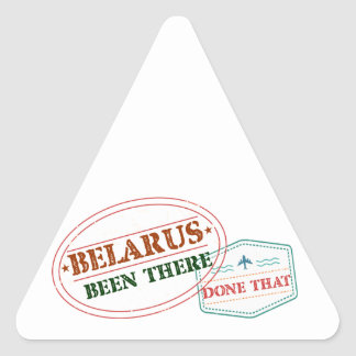 Belarus Been There Done That Triangle Sticker