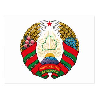 Belarus Coat of Arms (old) Postcard