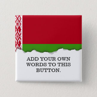 Belarus Flag 2 Inch Square Button