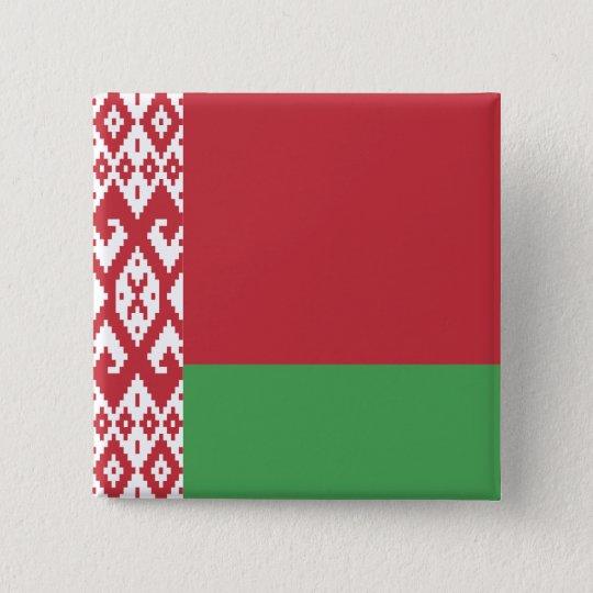 Belarus Flag 2 Inch Square Button