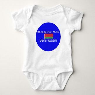 Belarus Flag And Language Design Baby Bodysuit