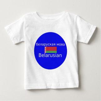 Belarus Flag And Language Design Baby T-Shirt