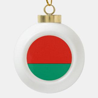 Belarus Flag Ceramic Ball Ornament